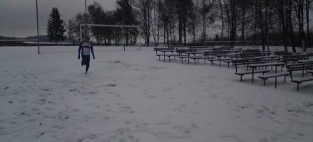 Závod zimní ligy v Brodku u Konice