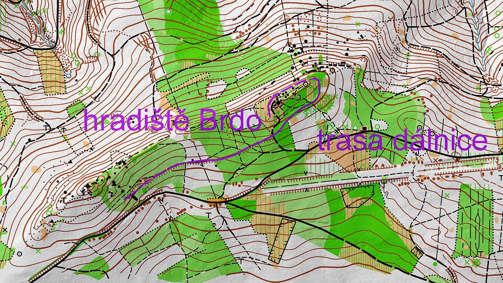 Brdo - mapa
