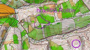 Roštín mapa